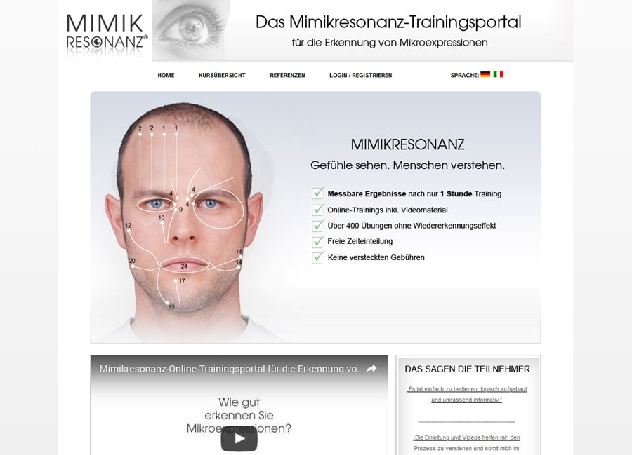 Mimikresonanz-Trainingsportal
