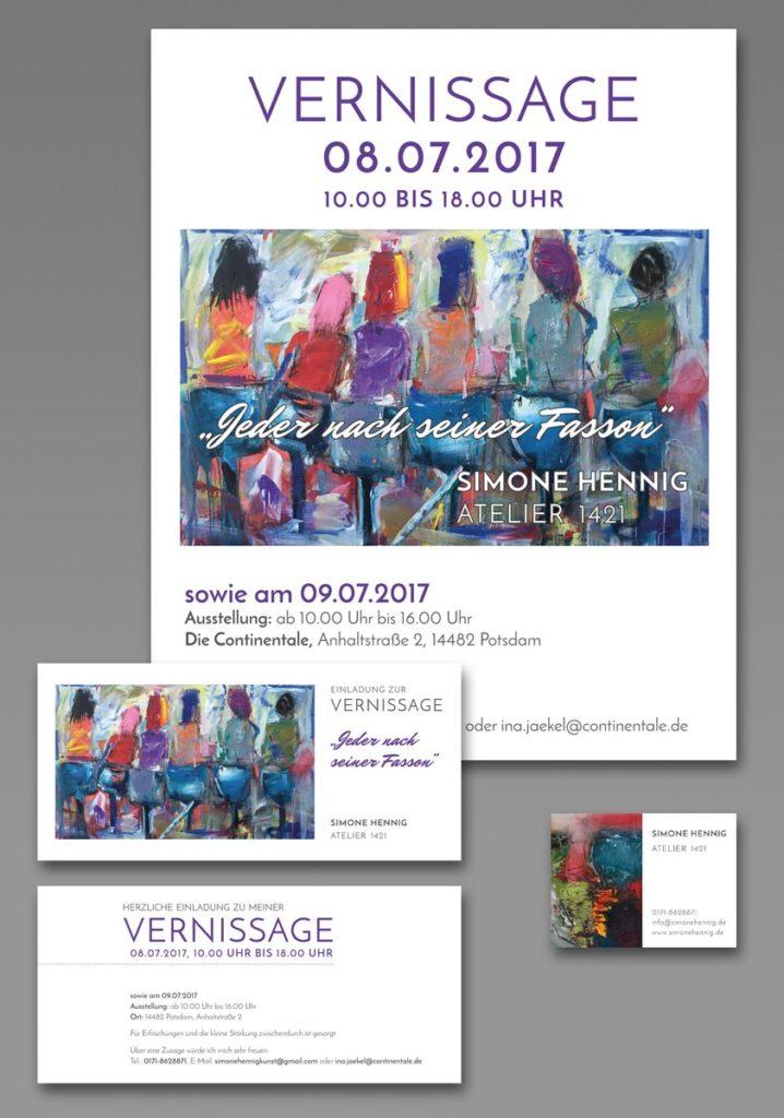 Poster, Einladungskarte, Visitenkarten