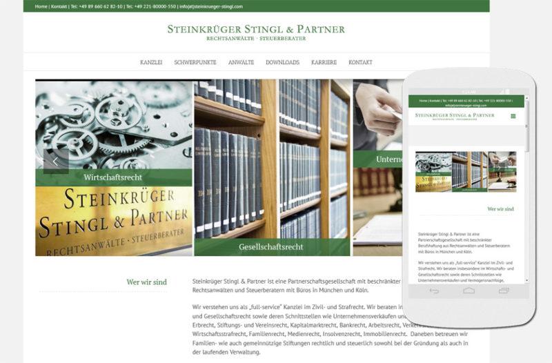 STEINKRÜGER STINGL & PARTNER Rechtsanwälte Steuerberater Partnerschaftsgesellschaft mbB